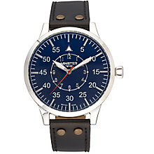 Minster Bradnor Men's Stainless Steel Round Strap Watch - Product number 4230809
