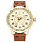 Minster Bradnor Men's Gold-plated Round Strap Watch - Product number 4230817