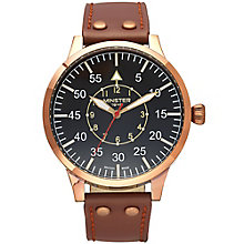 Minster Bradnor Men's Rose Gold-plated Round Strap Watch - Product number 4231406