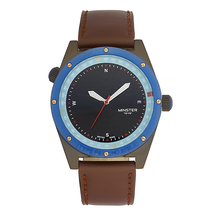 Minster Fryston Men's Stainless Steel Round Strap Watch - Product number 4232194