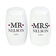 Personalised Mr & Mrs Salt And Pepper Set - Product number 4232461