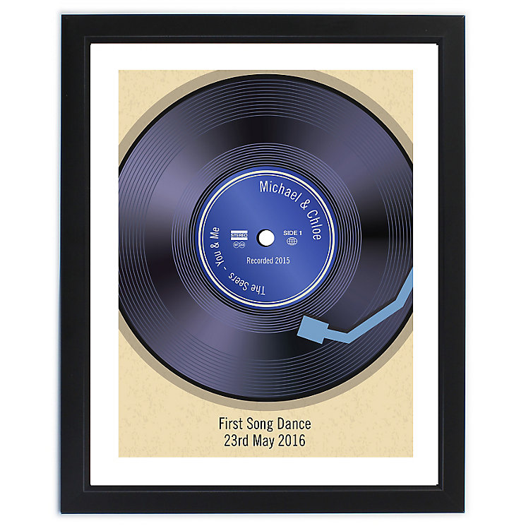 Personalised Retro Vinyl Black Poster Frame - Product number 4232623
