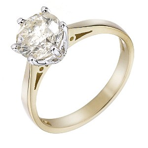 18ct Yellow Gold 1.5 Carat Diamond Solitaire Ring - Product number 4237803