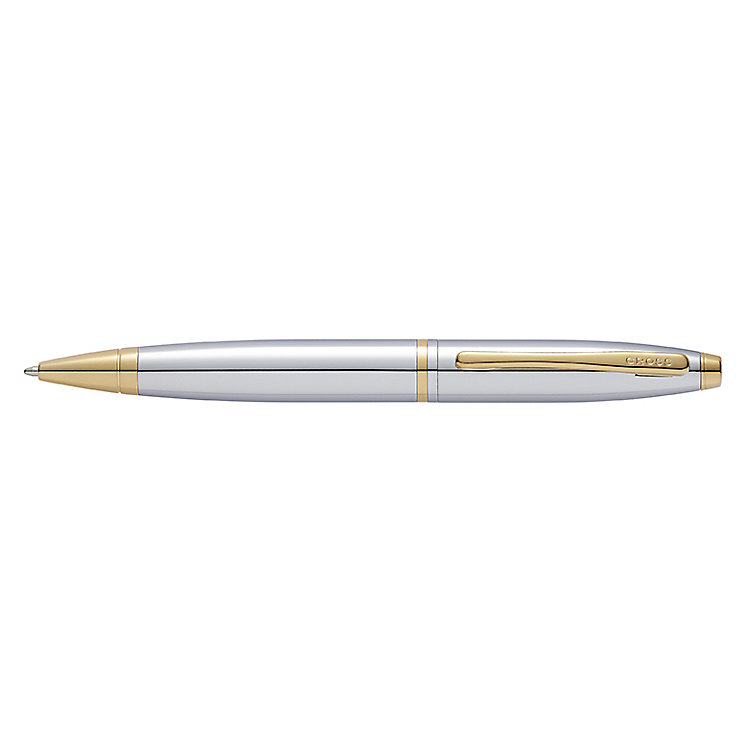 Cross Calais Chrome & 23ct Gold-Plated Ballpoint Pen - Product number 4246306