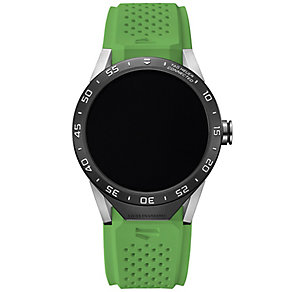 TAG Heuer Connected Men's Green Strap Watch - Product number 4253868