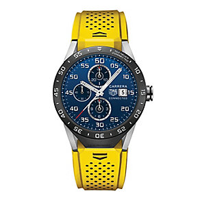 TAG Heuer Connected Men's Yellow Strap Watch - Product number 4253876