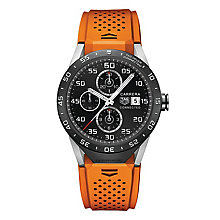 TAG Heuer Connected Men's Orange Strap Watch - Product number 4253884