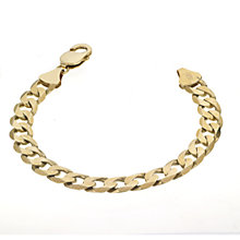 9ct Yellow Gold Solid Curb Bracelet - Product number 4257960