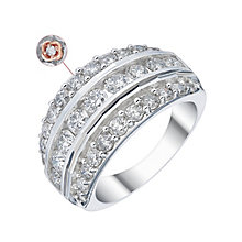 18ct White Gold 2ct Diamond Three Row Eternity Ring - Product number 4260988