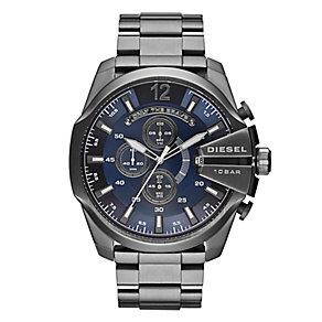 Diesel Mens Mega Chief Blue Dial & Gunmetal Bracelet Watch - Product number 4261879