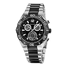Accurist Men's Black Dial Stainless Steel Bracelet Watch - Product number 4262409