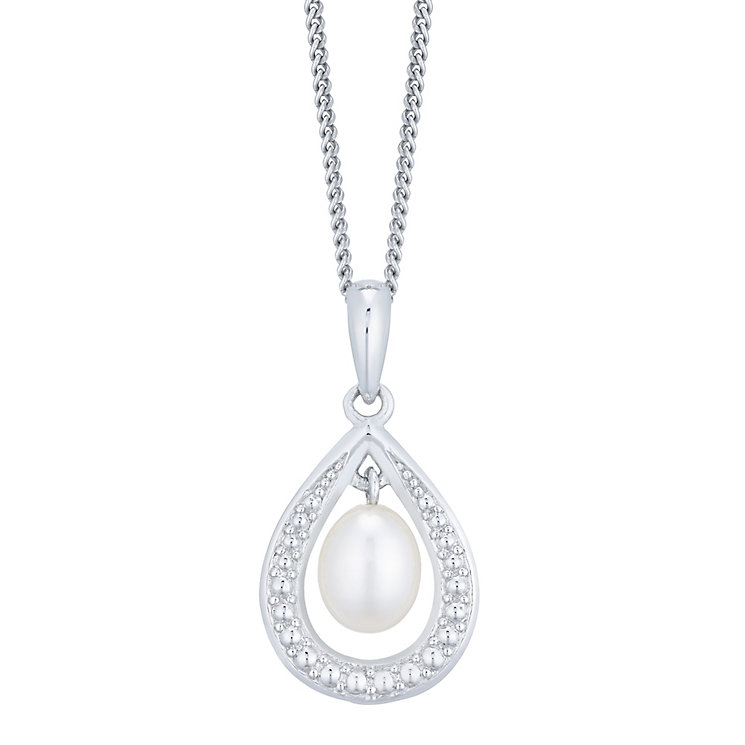 Sterling Silver Cultured Freshwater Pearl Pendant - Product number 4263529