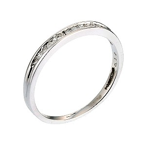 9ct White Gold 1/10 Carat Diamond Eternity Ring