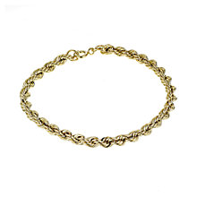 9ct Yellow Gold Rope Bracelet - Product number 4271793