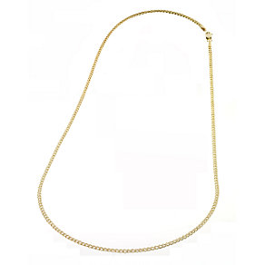 "9ct Yellow Gold 20"" Solid Curb Necklace - Product number 4280954"