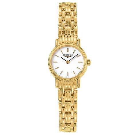 Longines Presence ladies' gold-plated bracelet watch