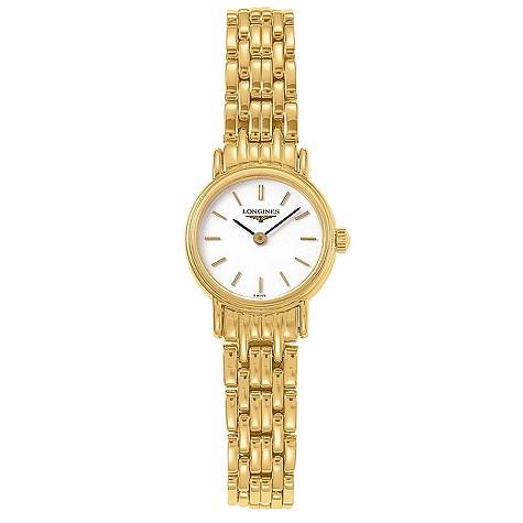 Longines Presence ladies' gold-plated bracelet watch