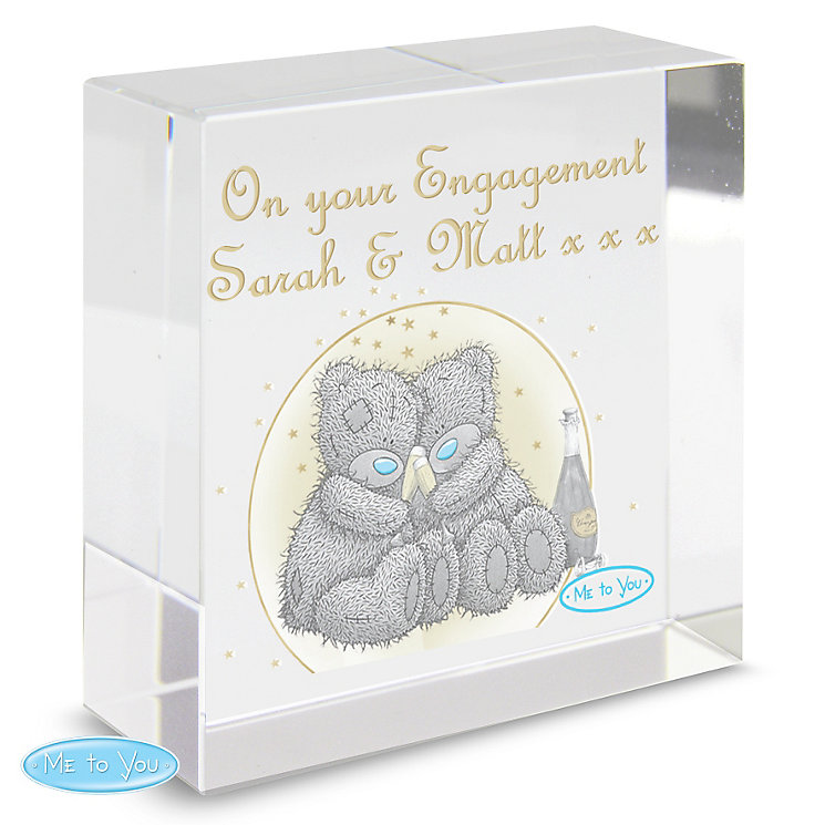 Personalised Me To You Celebration Crystal Token - Product number 4290283