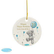 Personalised Me To You Blue Balloons Ceramic Decoration - Product number 4290844