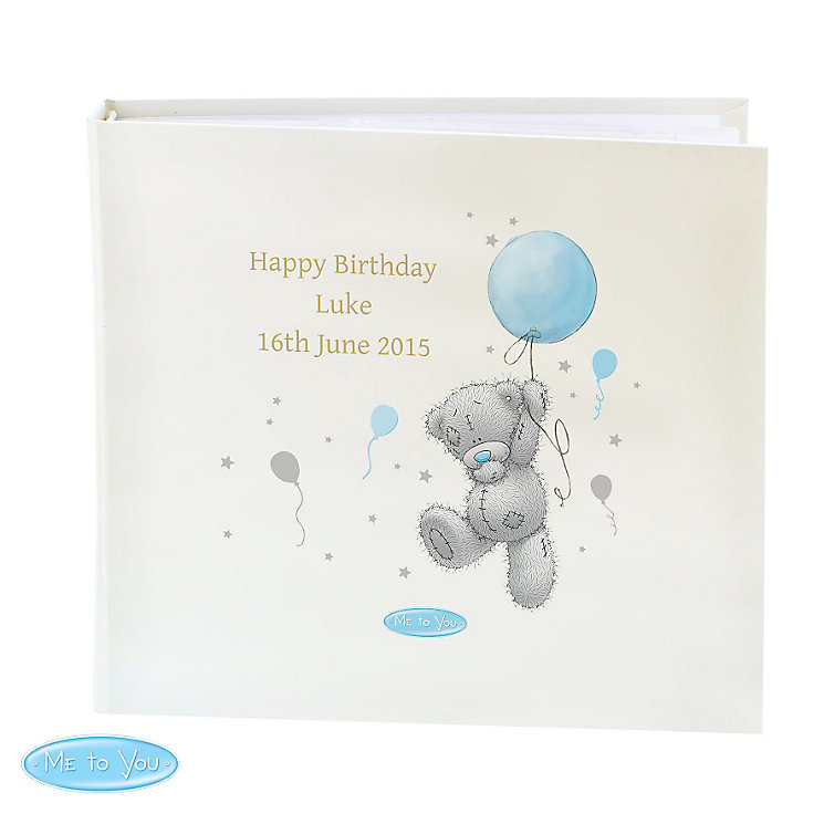 Personalised Me To You Blue Balloons Photo Album - Product number 4290968