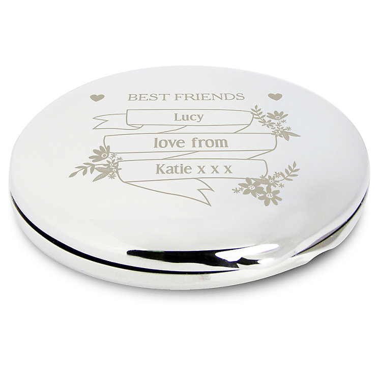 Engraved Garden Bloom Compact Mirror - Product number 4291115