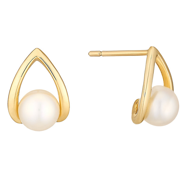 9ct Yellow Gold Cultured Freshwater Pearl Earrings - Product number 4292871