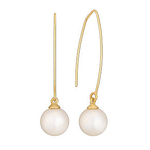 9ct Yellow Gold Cultured Freshwater Pearl Drop Earrings - Product number 4292928
