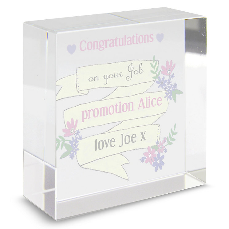 Personalised Garden Bloom Crystal Token - Product number 4293193
