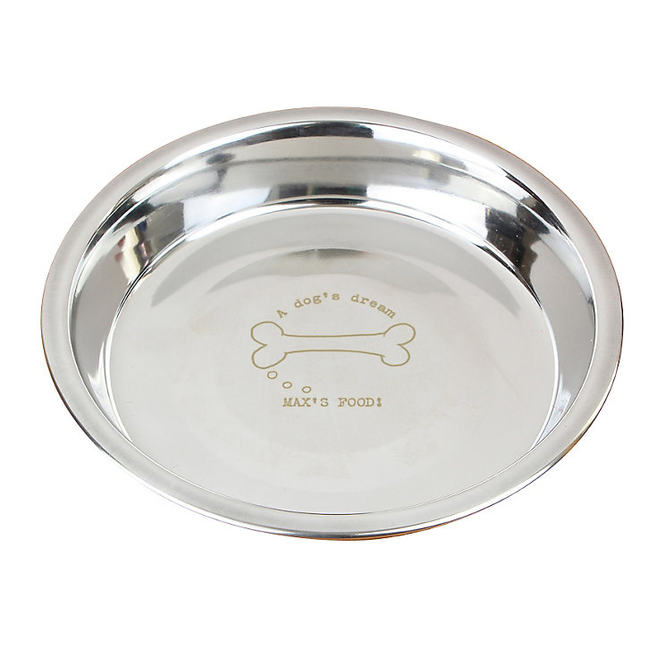 "Engraved ""A dog's dream"" dog bowl - Product number 4298497"