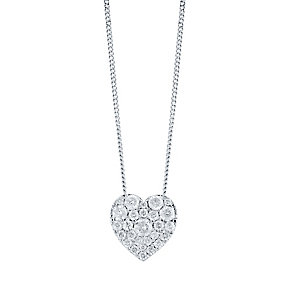 9CT WHITE GOLD 0.50CT DIAMOND HEART PENDANT - Product number 4298543