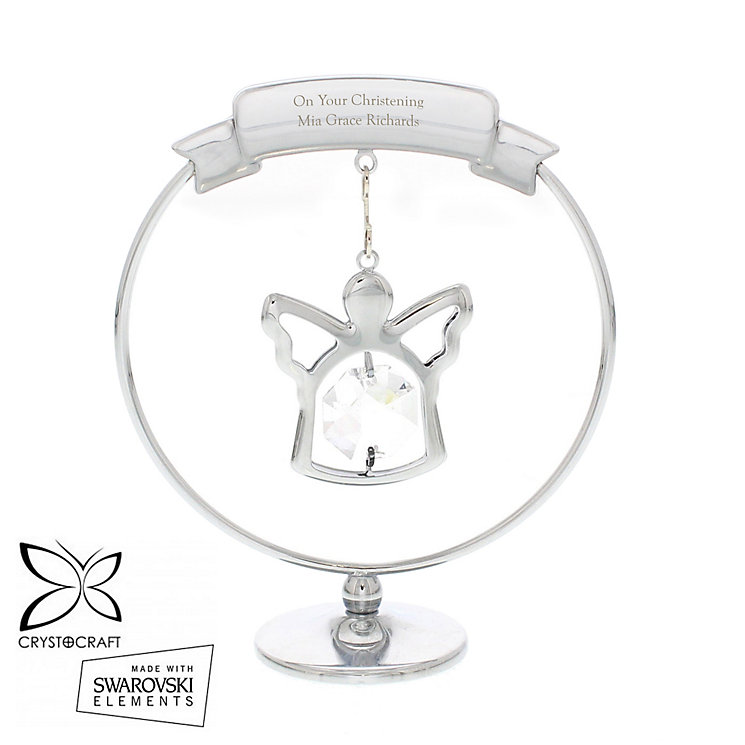 Engraved Crystocraft Angel Ornament with Swarovski Elements - Product number 4298896