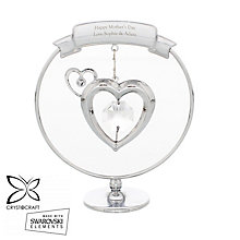 Engraved Crystocraft Heart Ornament with Swarovski Elements - Product number 4298918