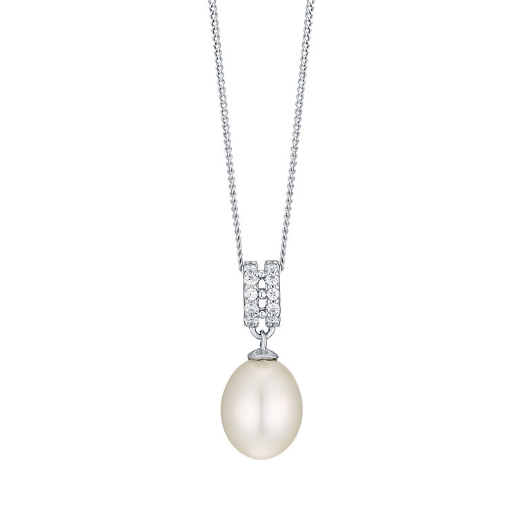 9ct White Gold Cultured Freshwater Pearl Pendant - Product number 4299027