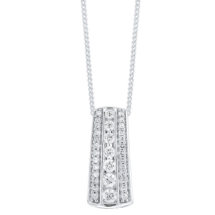 9ct White Gold 0.50ct Diamond Pendant - Product number 4299477