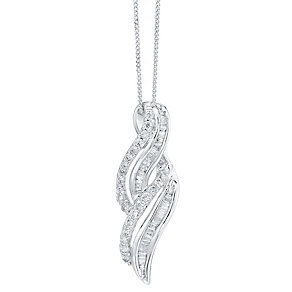 9ct White Gold 0.50ct Diamond Pendant - Product number 4299493