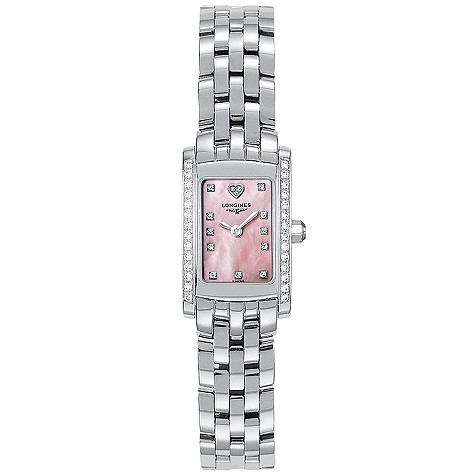Longines DolceVita ladies' stainless steel diamond-set watch