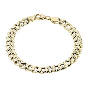 Men's 9ct Gold Curb Bracelet - Product number 4305094
