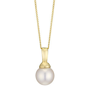 9ct Yellow Gold Cultured Pearl Pendant - Product number 4307097