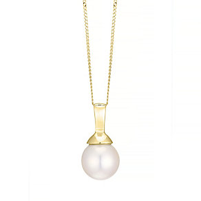 18ct Yellow Gold Cultured Pearl Pendant - Product number 4307119
