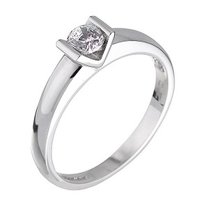 18ct White Gold Third Carat Diamond Solitaire Ring