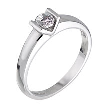 18ct White Gold Third Carat Diamond Solitaire Ring - Product number 4308859