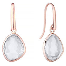 9ct Rose Gold Quartz Drop Earrings - Product number 4309464