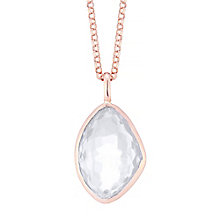 9ct Rose Gold Quartz Pendant - Product number 4310004