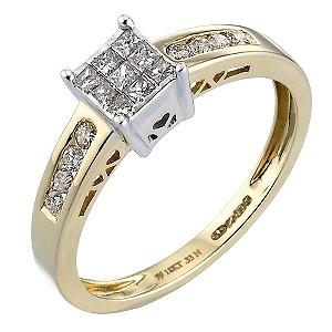18ct Gold Third Carat Diamond Ring