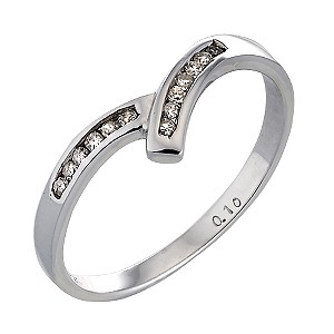 9ct White Gold Carat Diamond Wishbone Eternity Ring