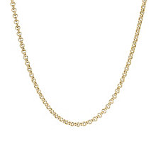 "9ct Yellow 24"" Gold Belcher Necklace - Product number 4321863"