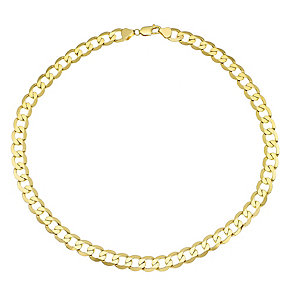 "Men's 9ct 20"" Yellow Gold Curb Chain - Product number 4323181"