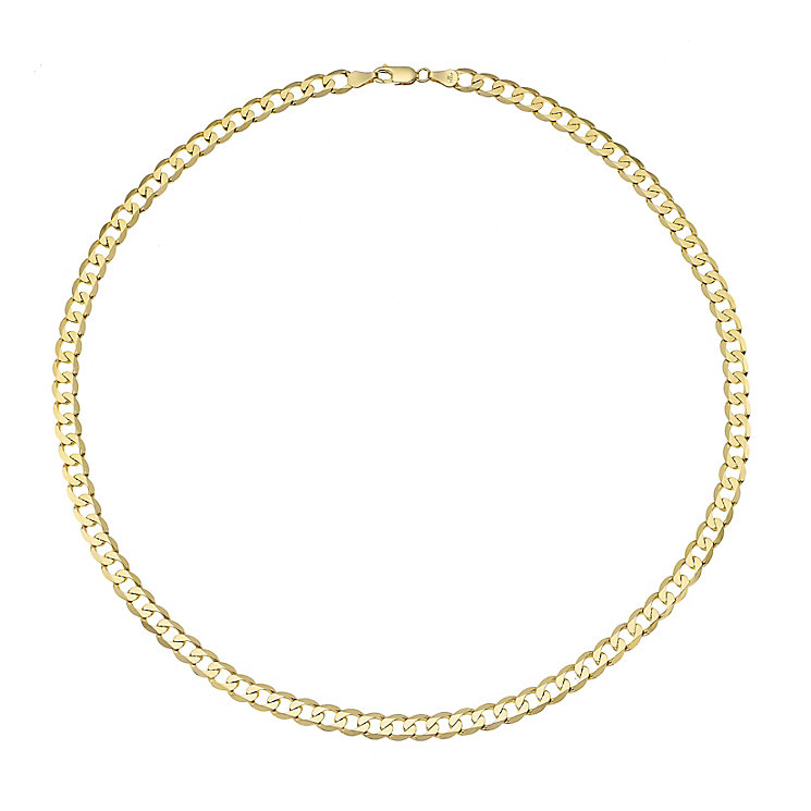 """Men's 9ct 20"""" Yellow Gold Curb Chain - Product number 4323203"""