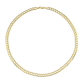 "Men's 9ct 20"" Yellow Gold Curb Chain - Product number 4323203"