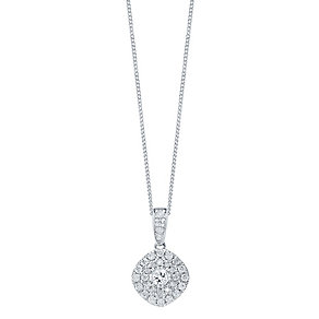 9ct White Gold 0.50ct Diamond Pendant - Product number 4325125